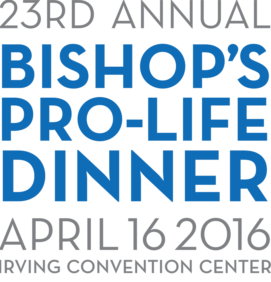 23rd Annual Bishop's Pro-Life Dinner April 16 2016