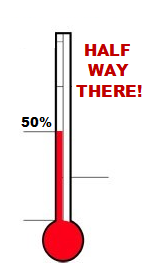 50% - We're halfway there!