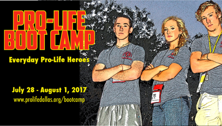 Youth For Life Pro-Life Boot Camp