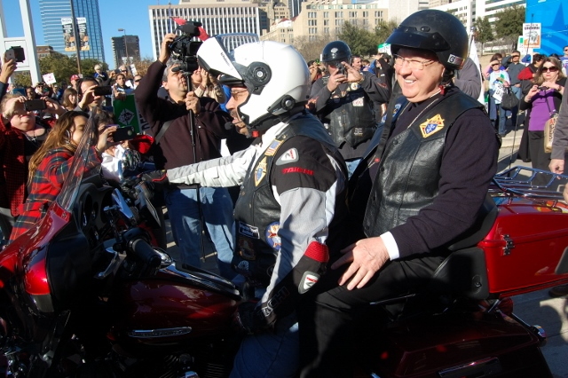 Bishop Farrell joins Bikers for Life