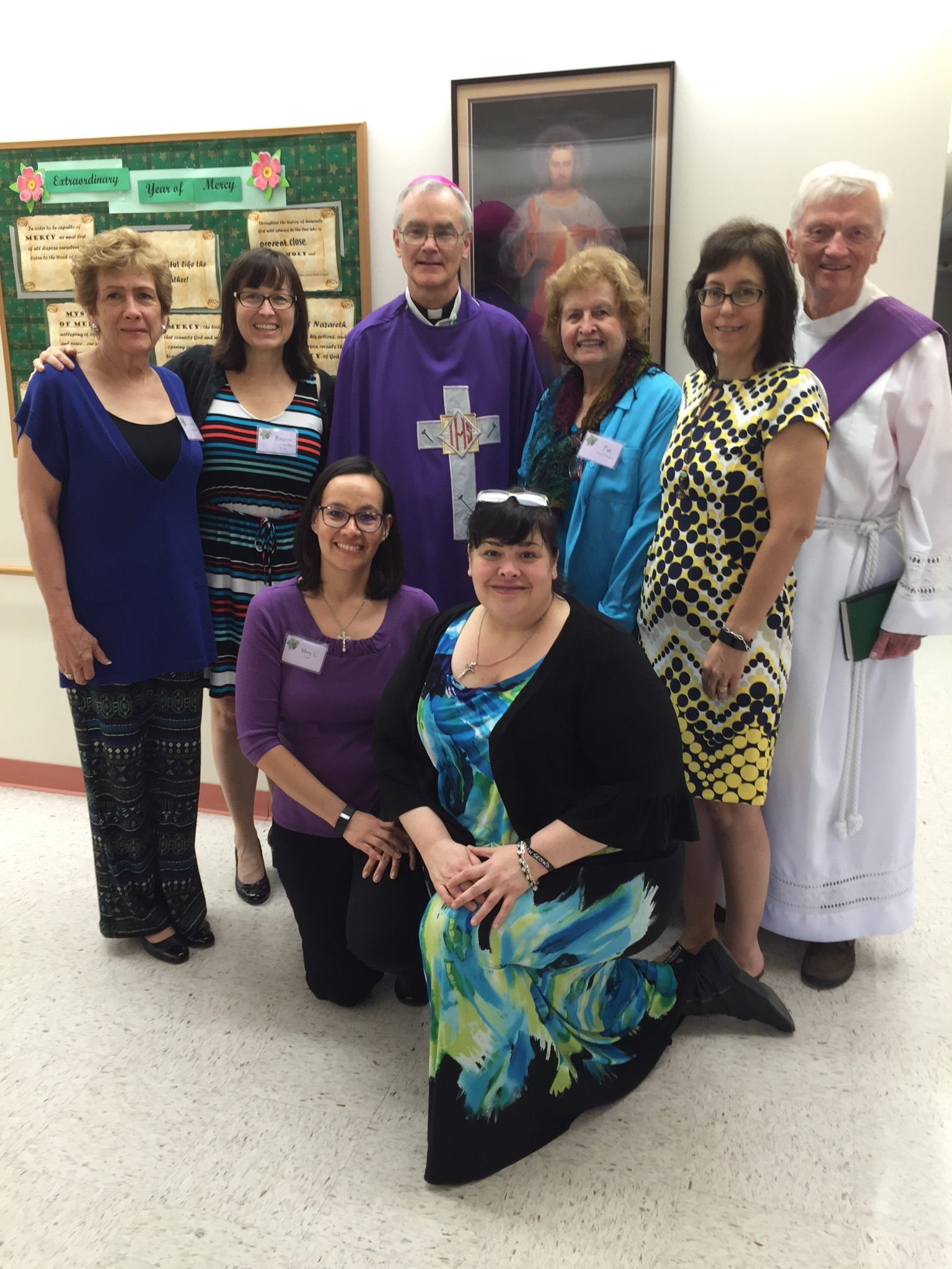 Rachel's Vineyard Retreat Team with Bishop Kelly