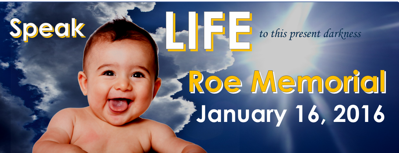 Speak LIFE to this Present Darkness - 2016 Roe Memorial Events