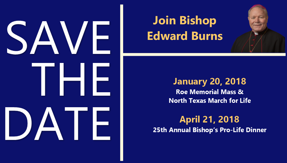 Save the Date with Bishop Burns